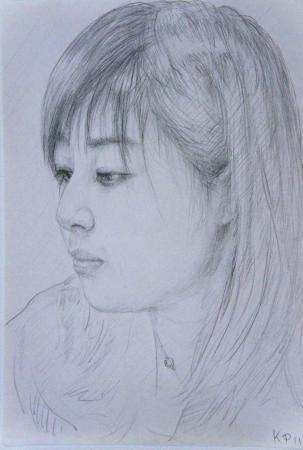 人像素描.少女17