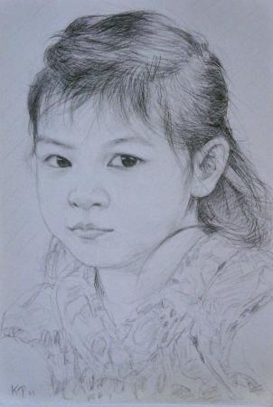 人像素描.小孩16