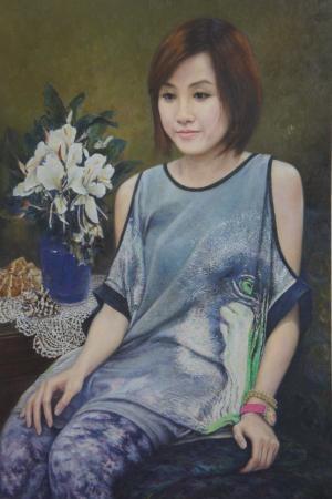 楊斯婷油畫像